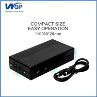 on Line Small Size Mini UPS 5v for IP Camera, 153g Light Weight UPS Mini Power Supply