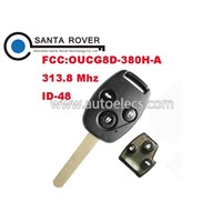 Best Quality Honda 3 Button Remote Key(Japan) 48 Chip