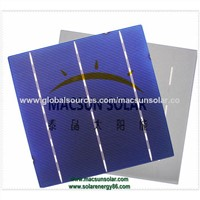 Blue Anti-Reflecting Coating (Silicon Nitride) Aluminum Back Surface Field 1.5mm Wide Bus Bars 2.0mm Wide Soldering Pads