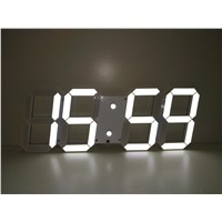 Hot Selling of LED 3D Digital Wall Clock 88:88 White Color