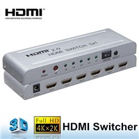 4 Port 1.3,1.4,2.0 HDMI Switcher Support 4K/60Hz & 3D for HDTV