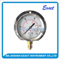 Flange Type Liquid Filled Pressure Gauge