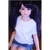 100cm Black Long Hair Clear Black Eyes Cute Face Lovely Life-Size Little Angel Sex Doll