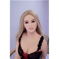 160cm Blonde Long Curly Hair Black Eyes Comely Face Slim Body-Shape Gorgeous Sex Doll