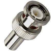 Straight Male BNC RF Coaxial Connector for Cable
