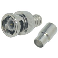 Straight BNC RF Coaxial Connector for Cable
