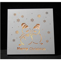 Home Decoration Products' Christmas Wooden Lighting Box Gifts