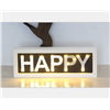 Customized Advertising Sign Party & Wedding Decoration Wooden LED Letter Light Box