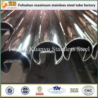 Ss 304 316 Tube 6m Length Standard Sizes Stainless Steel Groove Tube