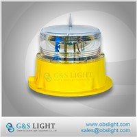 Low Intensity Type B Solar Aviation Obstruction Light / Solar LED Obstruction Light