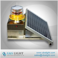 Medium Intensity Type B Solar Aviation Obstruction Light for Towers