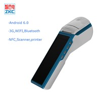 Android 6.0 Touch Screen Handheld Pos with 3G WiFi GPS Bluetooth Printer Scanner