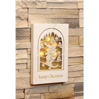 Best Selling Products Wall Decorative LED Wooden Christmas Lights Box