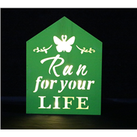 LED Engrave Letter Wooden Light Box Party Home Decoration