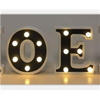 Wooden LED Wedding Party Decoration Christmas Alphabet Marquee Letter Lighting