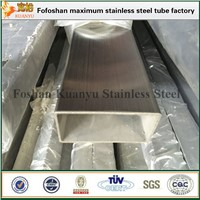 304 304L 316 316L Stainless Steel Rectangular Pipe Hollow Section Pipe