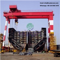 Shipbuilding Box Type Double Girder 50t Gantry Crane with Lifing Hook