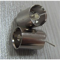 Straight F RF Coaxial Connector for Cable