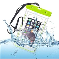 Underwater Outdoor Universal Waterproof Pouch Waterproof Dry Bag for Cell Phone with Dule-Sides Transparent Windows
