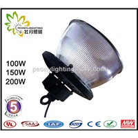 Five Years Warranty MeanWell Power Supply 100w UFO LED High Bay Light with Transparent Cover