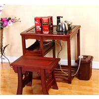 Solid Wood Tea Table & Chairs Set for Living Room