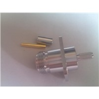 Straight Flange TNC RF Coaxial Connecctors for Cable PCB
