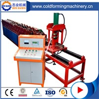 PLC Controlling Red Roll Forming Aluminum Roller Shutter Door Machine