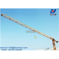 QTZ125 PT6016 Flat Top Crane Tower 10tons Load 60m Jib Arm Potain Mast Section