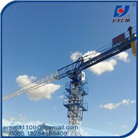 Small PT5010 Topless Tower Crane 5t Load 50m Jib External Climbing Type
