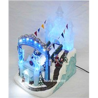 Handmade Resin Figurine Christmas Crafts Water Fountain