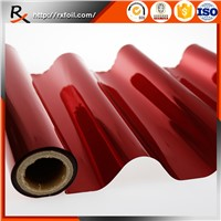 Red Color Hot Stamping Foil Printing on Fabric Garment
