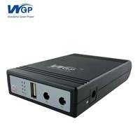 Constant DC Output Mini UPS 12 Voltage 18650 Power Battery UPS with 3 Hours Backup Power