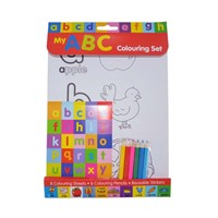 Letters Colouring Set Wtih Pencils