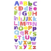 3D Alphabet Puffy Lower Case Letters Stickers