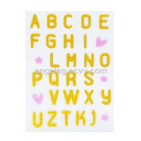 Alphabet Heart Shimmer Stickers for Children Learning