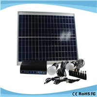 Portable Mini Home Solar Panel Generator with 18650 Lithium Cell Battery