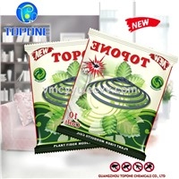 Topone Brand with Esbiothrin 0.2% High Quality Green Raw Material Micro Smoke Paper Mosquito Coil
