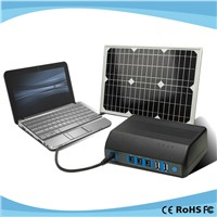 Dual USB Output Portable Home Using Solar Power Generator System