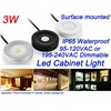 Surface Mounted 3W Mini LED Cabinet Light Dimmable Waterproof IP65 Showcase TV Kitchen Cabinet Lighting Fixture LED Lamp