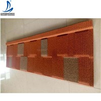 Light Weight Roofing Materials Stone Coated Metal Tiles / Color Stone Coated Roofing Sheets