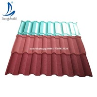 Shingle Tile Black White Stone Coated Roofing Sheet Aluminum Zinc Roofing Tile