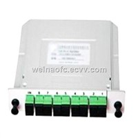 Fiber Optic Card Inserted Type LGX PLC Splitter Box 1x8 SC/APC