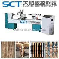China CNC Wood Turning Lathe Machine for Wood Crafts