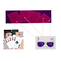 Copag 1546 Poker Size Plastic Marked Cards/Poker Cheat/Perspective Glasses/Contact Lenses/Invisible Ink/Poker Cheat