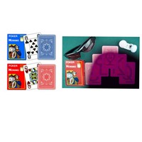 Red Plastic Modiano Cristallo Plastic Marked Cards for Marked Cards/Poker Cheat/UV Contact Lenses/Invisible Ink/Magic