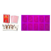 Red Modiano Texas Plastic Luminous Marked Cards for Poker Cheating Device/Invisible Ink/Cheat In Casino/UV Contact Lens