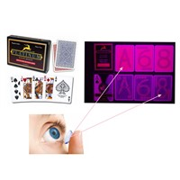 Red Modiano Platinum Plastic Luminous Marked Cards for Game Cheat/UV Perspective Sunglasses/Invisible Ink/Magic Trick