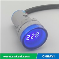 Voltmeter Voltage Meter 22mm AD26B-22VM Blue