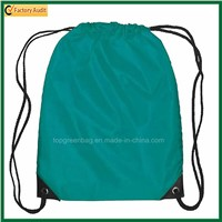 Advertising Polyester Drawstring Backpack String Pack with Front Zipper Pocket