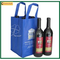 Promotional Cheap Non Woven Four Bottle 4 Bottles Wine Bag Recycled Promotional Polyester Oxford 9 Pack Wine Bottle Pack